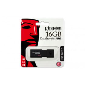 Kingston Technology DataTraveler 100 G3 16GB 16GB 3.0 (3.1 Gen 1) Numero di grucce Nero unità flash USB