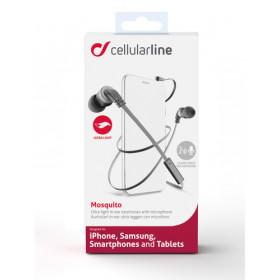 Cellularline Mosquito - Universale Auricolari in-ear leggeri dal suono pulito Nero