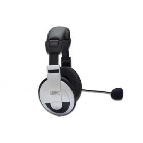 Digitus DA-12201 auricolare Stereofonico Padiglione auricolare Nero, Bianco