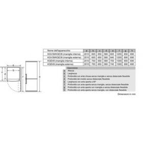 Bosch Serie 4 KGV39VL31S Combinato