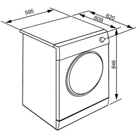 Smeg DHT81EIT Libera installazione Carica frontale 8kg A+ Bianco asciugatrice