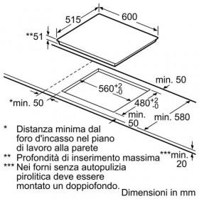 Bosch PIE611B10J piano cottura Nero Incasso A induzione