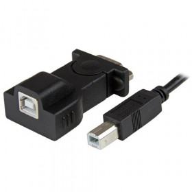 StarTech.com Cavo Adattatore 1 porta USB a Seriale RS232 / DB9 con cavo rimovibile USB A-B da 1,8m