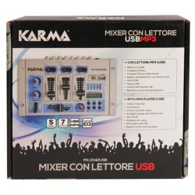Karma Italiana MX 2042USB 5channels 20 - 20000Hz Blu, Grigio mixer audio