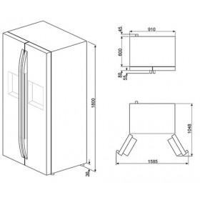Smeg SBS63NED Libera installazione 544L A+ Nero frigorifero side-by-side