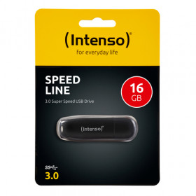 Intenso Speed Line unità flash USB 16 GB USB tipo A 3.0 (3.1 Gen 1) Nero