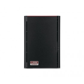 Buffalo LinkStation 520 Collegamento ethernet LAN Compatta Black NAS