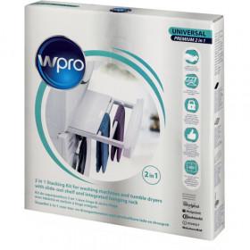 Wpro SKP101 Kit Sovrapposizione universale con ripiano e stendino