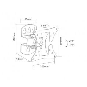 Sopar 23114 supporto da parete per tv a schermo piatto 68,6 cm (27