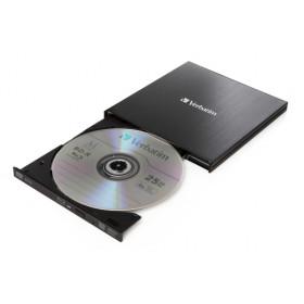 Verbatim External Slimline lettore di disco ottico Nero Blu-Ray RW