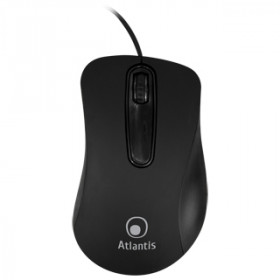 Atlantis Land OptiStar USB mouse Ottico 1000 DPI Mano destra