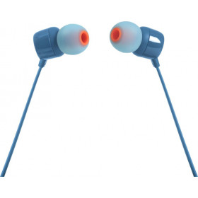 JBL T110 Auricolare Stereofonico Cablato Blu auricolare per telefono cellulare