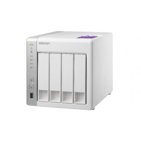 QNAP TS-431P server NAS e di archiviazione Collegamento ethernet LAN Torre Bianco