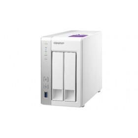 QNAP TS-231P server NAS e di archiviazione AL212 Collegamento ethernet LAN Desktop Grigio, Bianco