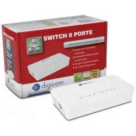 Digicom SWF08-T02 Fast Ethernet (10/100) Bianco