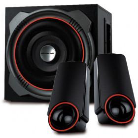Mediacom MediaSound DT450 altoparlante 90 W Nero, Rosso