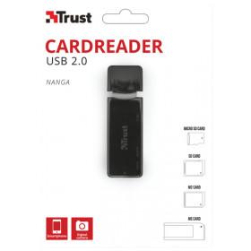Trust NANGA lettore di schede USB Nero