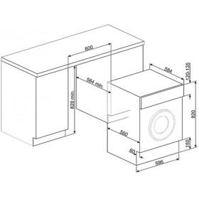 Smeg LBA10B-2 lavatrice Incasso Caricamento frontale Bianco 7 kg 1000 Giri/min A++