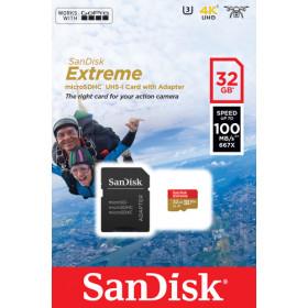 Sandisk Extreme memoria flash 32 GB MicroSDHC Classe 10 UHS-I