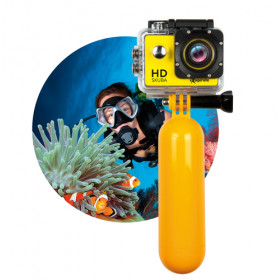 Hamlet Exagerate Skuba Action Cam action camera HD con schermo LCD da 2 pollici con custodia impermeabile de manico galleggiante