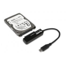 Hamlet Adattatore USB 3.1 Type-C to SATA III per collegare hard disk o unità SSD con Serial ATA