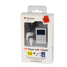 Xtreme 27611 Lettore MP3 Argento 4 GB