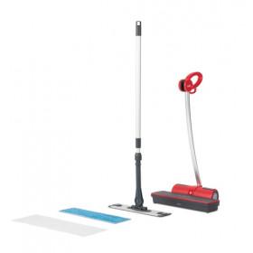 Polti Moppy Red Pulitore a vapore verticale 0,7 L Nero, Rosso 1500 W