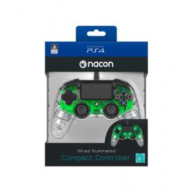 NACON PS4OFCPADCLGREEN periferica di gioco Gamepad PlayStation 4 Verde, Trasparente