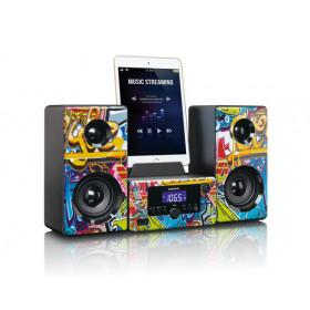 Lenco MC-020 Mini impianto audio domestico Multicolore 10 W
