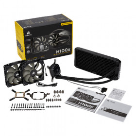 Corsair H100x raffredamento dell'acqua e freon Processore