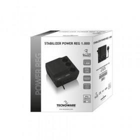 Tecnoware Power Reg 1000VA regolatore di tensione 230 V 3 presa(e) AC Nero