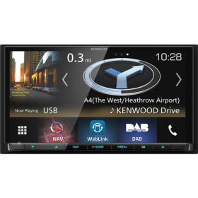 Kenwood Electronics DNX8180DABS Nero 200W Bluetooth autoradio