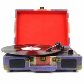New Majestic TT-43 BT/USB/SD/AX Giradischi con trasmissione a cinghia Blu, Rosso, Bianco