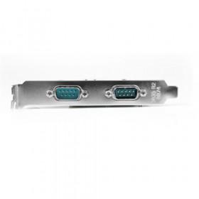 StarTech.com Scheda seriale PCI Express nativa a 2 porte RS-232 con 16550 UART