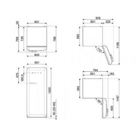 Smeg FAB28RPB3 monoporta Libera installazione Blu 270 L A+++