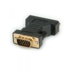 ROLINE DVI-VGA Adapter DVI-I Nero