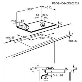 Electrolux KGS6436SX piano cottura Acciaio inossidabile Incasso Gas