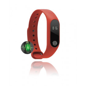 GOCLEVER SMART BAND MAXFIT BASIC Wristband activity tracker Nero, Rosso