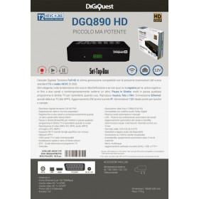 Digiquest DGQ890 HD decodificatore 1 sintonizzatore/sintonizzatori Nero Cablato