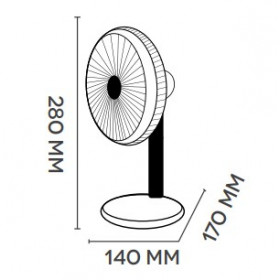 Argoclima ORFEO ventilatore Ventilatore domestico con pale Bianco