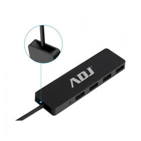 Adj Tetra Hub 2.0 USB 2.0 480 Mbit/s Nero