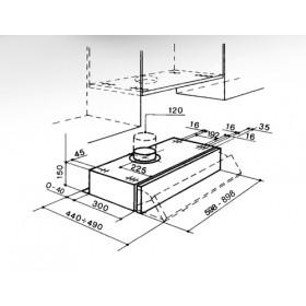 Faber PCH00 SRM AM26A 370 m³/h Integrato Acciaio inossidabile D