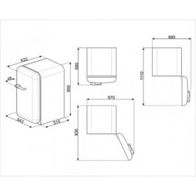 Smeg FAB10RPK2 monoporta Libera installazione Rosa 114 L A++