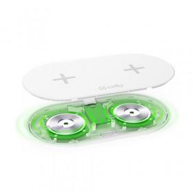 Celly WL2FASTPADWH Caricabatterie per dispositivi mobili Bianco Interno