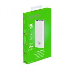Celly PBDUAL5000WH batteria portatile Polimeri di litio (LiPo) 5000 mAh Bianco