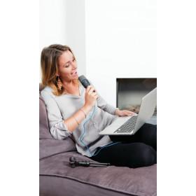 Trust Mico Microfono per PC Nero, Blu
