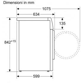 Bosch Serie 4 WTH85V08IT asciugatrice Libera installazione Caricamento frontale Bianco 8 kg A++