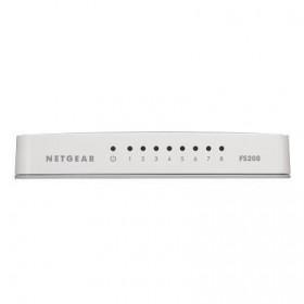 Netgear FS208 Non gestito Bianco