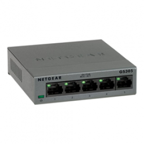Netgear GS305-300PES switch di rete Non gestito L2 Gigabit Ethernet (10/100/1000) Nero