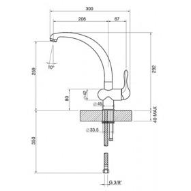 Smeg MF8A2 rubinetto Antracite